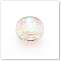 Clear with Sparkles - Glass Bead