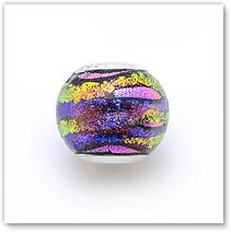 Purple Orchid - Glass Bead