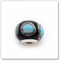 Blue Oyster - Glass Bead