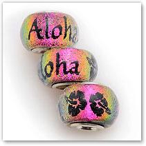 Aloha - Pink - Glass Bead
