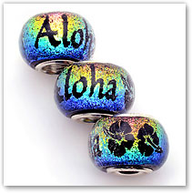Aloha - Rainbow - Glass Bead