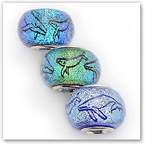 Whale Family - Glass Bead