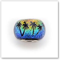 Palms - Sunset - Glass Bead
