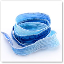 Blue-White Fade - Silk Wrap