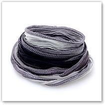 Charcoal Fade - Silk Wrap