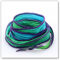 Turq/Green Purple - Silk Wrap