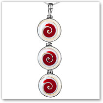Spiral Shell Resin Pendant - Island Jewelry