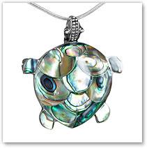 Abalone Turtle Pendant Pin - Island Jewelry