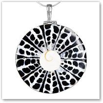 Spiral Shell Resin Shiva Pendant - Island Jewelry
