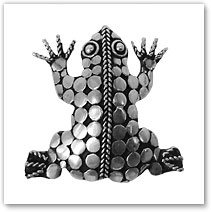 Frog Pendant / Brooch - Island Jewelry