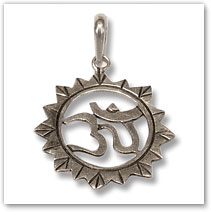 Sterling Silver OM Pendant - Island Jewelry