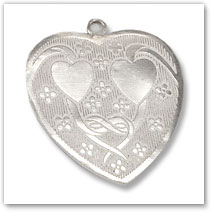 Sterling Silver Engraved Heart Pendant - Island Jewelry