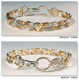 Classic Wave Alternating - Hawaiian Jewelry by Varsha Titus - Nautical Braid Bracelet