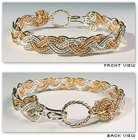 Wave Tapestry Alternating  - Hawaiian Jewelry by Varsha Titus - Nautical Braid Bracelet