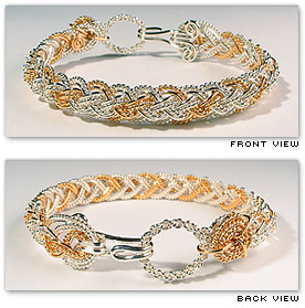 Half Round Lace Alternating / Narrow - Hawaiian Jewelry by Varsha Titus - Nautical Braid Bracelet
