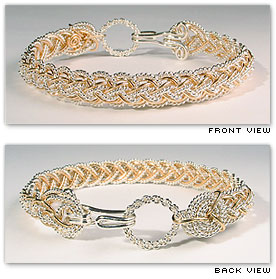 Half Round Lace / Narrow  - Hawaiian Jewelry by Varsha Titus - Nautical Braid Bracelet