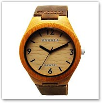 Kahala Hawaii Bamboo Wood Watch - Hawaiian Jewelry