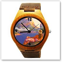 Fly to the South Seas Bamboo Wood Watch - Hawaiian Jewelry