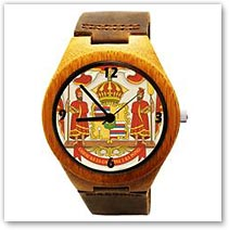 Coat of Arms Bamboo Wood Watch - Hawaiian Jewelry