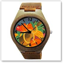Essence of Aloha Acacia Koa Wood Watch - Hawaiian Jewelry