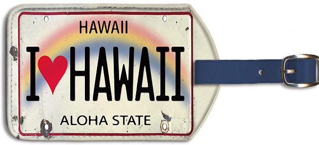 Hawaiian Tag: Hawaiian Leatherette Luggage Tags