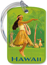 Royal Hawaiian Hula - Hawaiian Vintage Luggage Tag