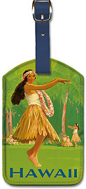 Royal Hawaiian Hula - Hawaiian Leatherette Luggage Tags