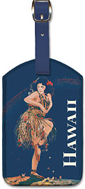 Hawaii - Rainbow Isle Song - Hawaiian Leatherette Luggage Tags