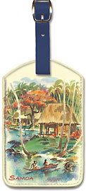 Pacifica Island Art Leatherette Luggage Baggage Tag Faster Disaster by Parker