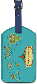 The Hawaiian Islands - Hawaiian Leatherette Luggage Tags