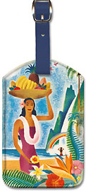 Hawaii Paradise Island - Hawaiian Leatherette Luggage Tags