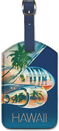 Union de Transports Aeriens (UTA) - Hawaii, Le Pacifique (The Pacific) - Hawaiian Leatherette Luggage Tags