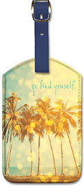 Go Find Yourself - Hawaiian Leatherette Luggage Tags