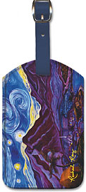 Maui Starry Night - Hawaiian Leatherette Luggage Tags