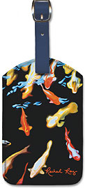 Koi Reflections - Hawaiian Leatherette Luggage Tags