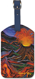 Madame Pele - Hawaiian Leatherette Luggage Tags