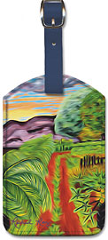 The Papaya Farm - Hawaiian Leatherette Luggage Tags