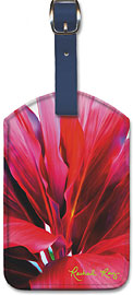 Ti Leaf 3 - Hawaiian Leatherette Luggage Tags