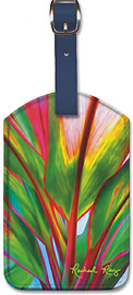 Ti Leaf 4 - Hawaiian Leatherette Luggage Tags