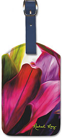 Ti Leaf Bouquet - Hawaiian Leatherette Luggage Tags