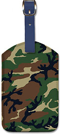 Camouflage Army Forest - Leatherette Luggage Tags