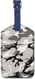 Camouflage Grey - Leatherette Luggage Tags