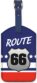 Route 66 - Leatherette Luggage Tags
