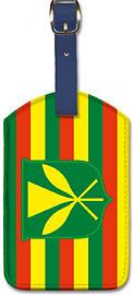 Kanaka Maoli Flag - Hawaiian Leatherette Luggage Tags