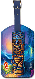 Exotic Traveler - Hawaiian Leatherette Luggage Tags