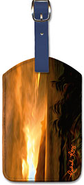 Clearing Squall - Hawaiian Leatherette Luggage Tags