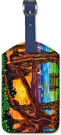 Maui Banyan Bliss - Hawaiian Leatherette Luggage Tags