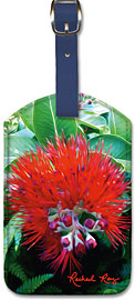 Liko Lehua - Hawaiian Leatherette Luggage Tags