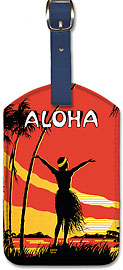 Aloha OE - Hawaiian Leatherette Luggage Tags