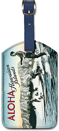 Surf Riders - Hawaiian Leatherette Luggage Tags